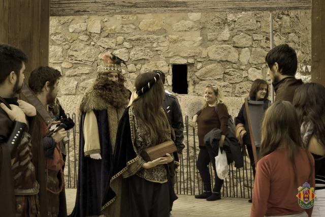 Recepción Reyes Magos en el Belén viviente