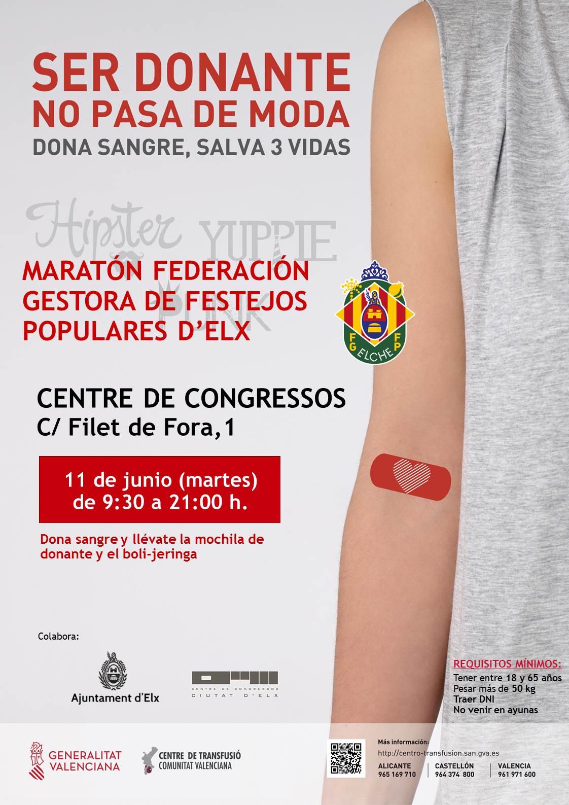 """Maratón de sangre """"Ser donante no pasa de moda"""""""